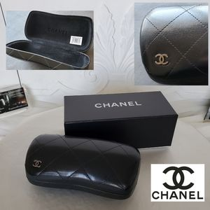 🖤 CHANEL Large Black Hard Shell Sunglasses Case